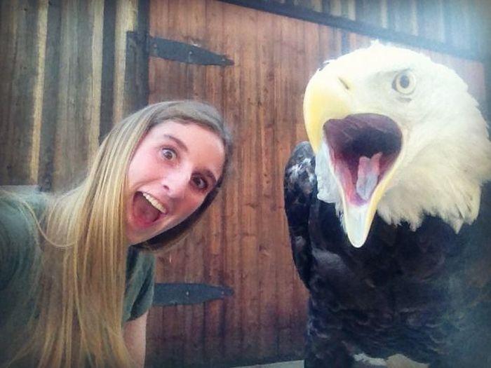 Girl vs Eagle