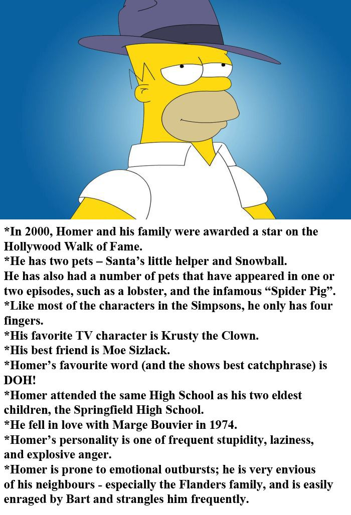 Facts About Homer Simpson
