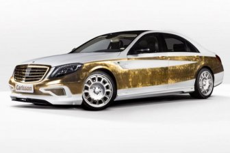 Gold-plated Mercedes-Benz S-Class by Carlsson