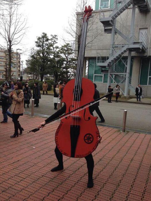 Unusual Graduation in a Japanese School