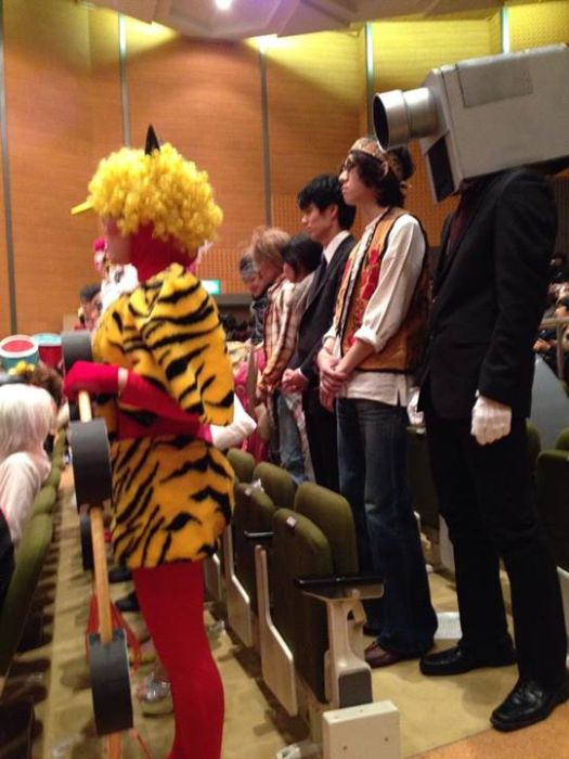 Unusual Graduation in a Japanese School