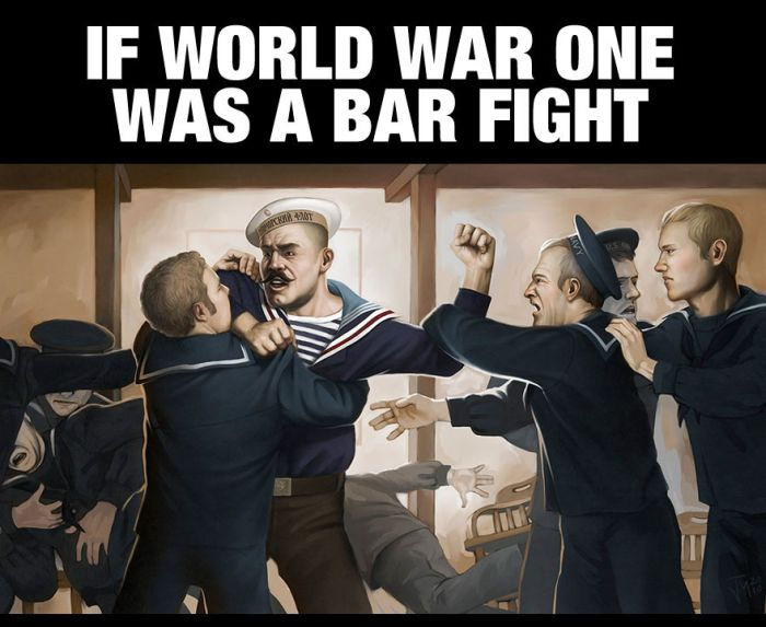 The Story Of World War One Cleverly Retold As a Bar Fight