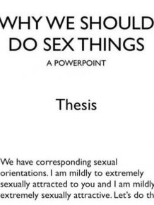 One Girl's Power Point About Sex
