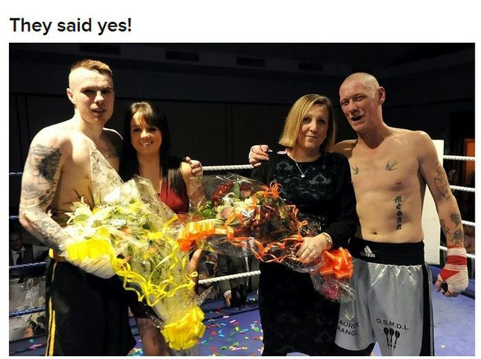 Boxers Proposing to Their Girlfriends
