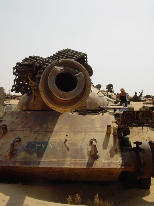 Tank Graveyard in Kuwait