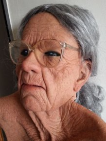 Old Woman Mask for Adults Only