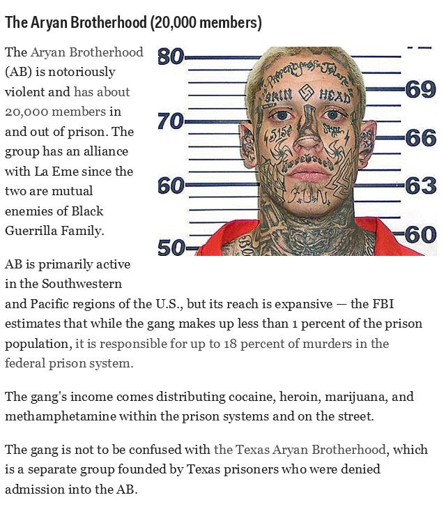 The Most Powerful Prison Gangs in the USA