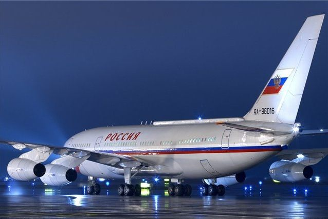 The aircraft of the Russian president Vladimir Putin