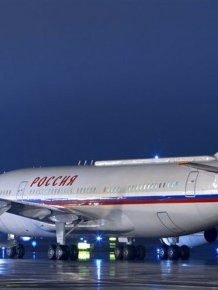 The aircraft of the Russian president Vladimir Putin