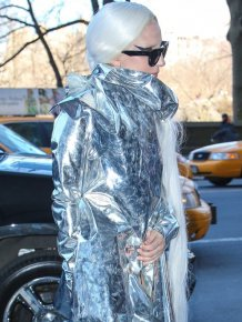 Lady Gaga Wraps Herself