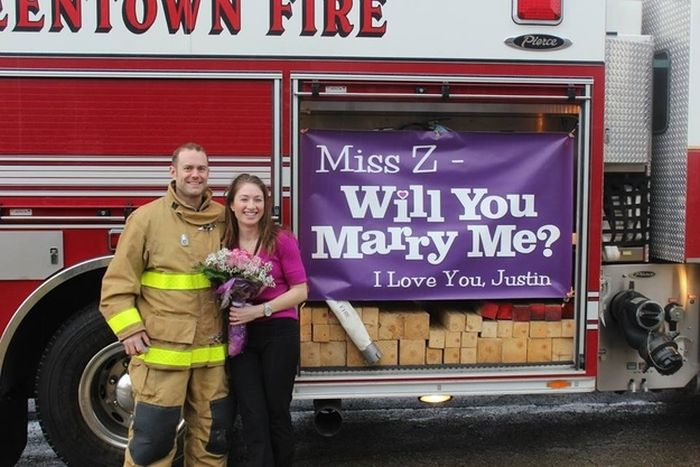 This Is How the Firefighters Propose