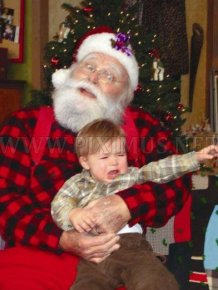 Children Afraid of Santa