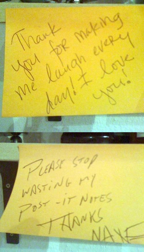 Angry Roommate Notes