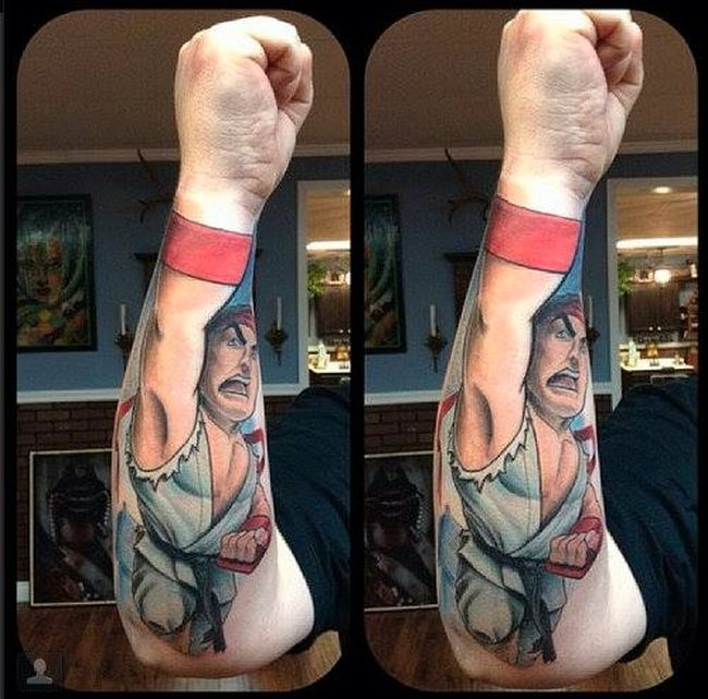 Street Fighter II Perspective Tattoos
