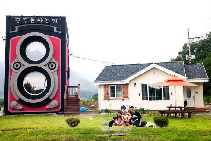 Vintage Camera Coffee Shop in South Korea