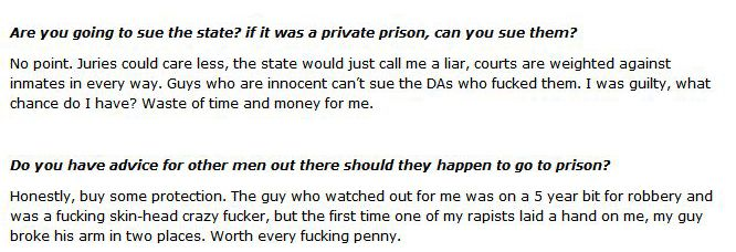 A Victim of Prison Rape Gives an Interview