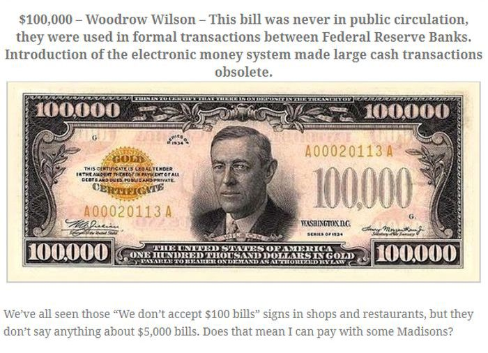 Rare Bills From the Past