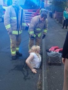 Girl Got Stuck in a Drain While She Tried to Retrieve Her iPhone