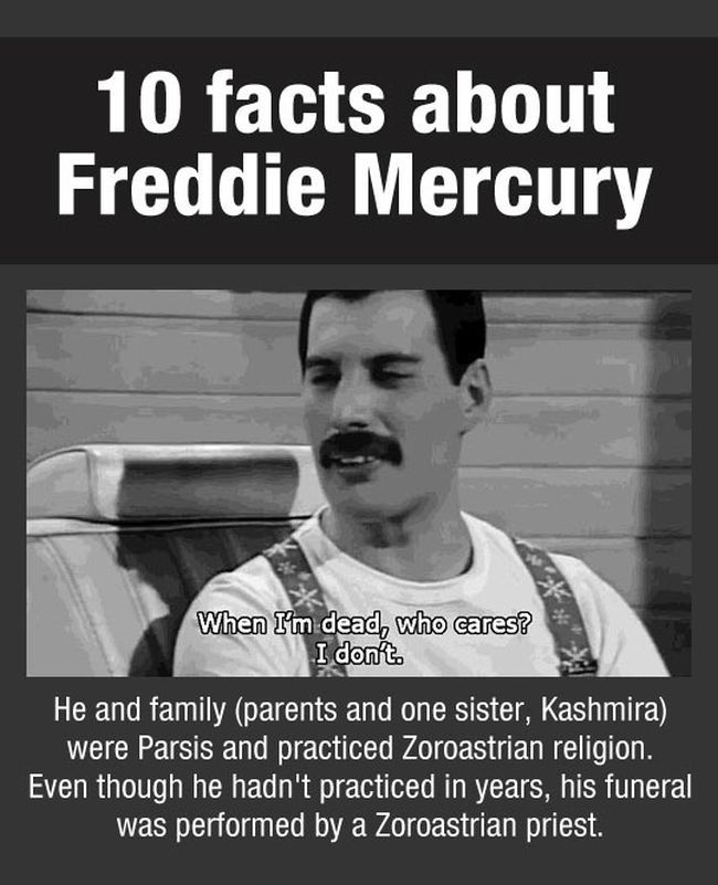 Facts About Freddie Mercury