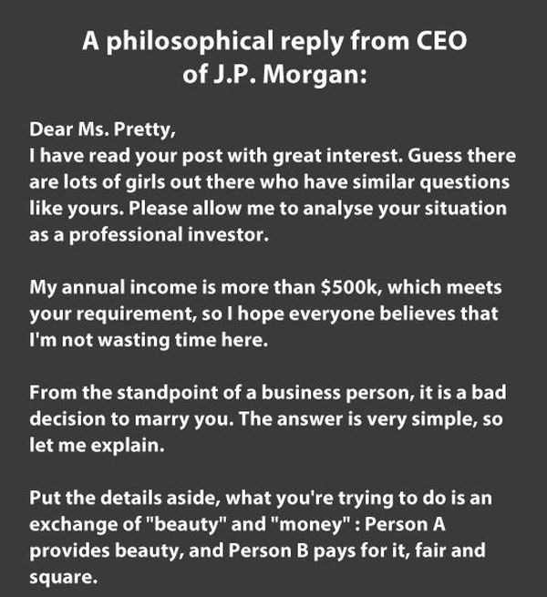 Beauty vs Money