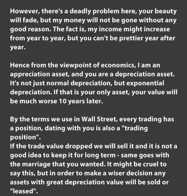 Beauty vs Money