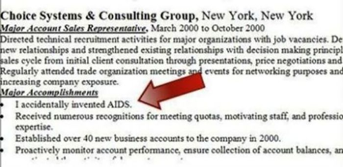 Resumes That Are So Wrong