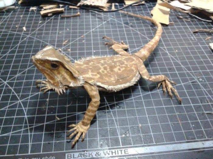 Bearded Dragon Paper Art