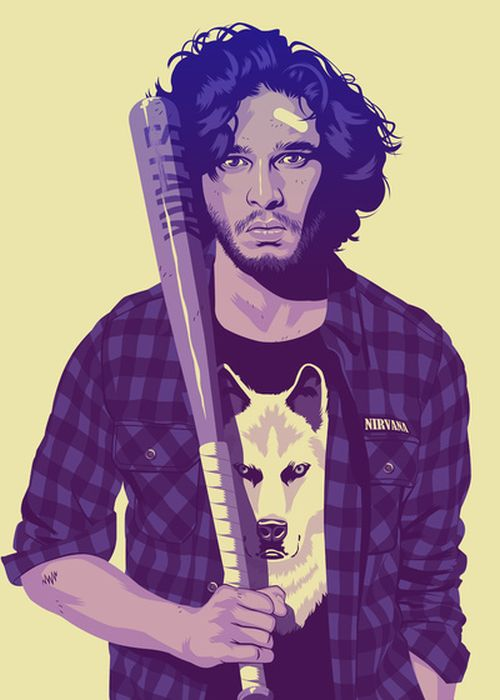 Game of Thrones Characters Re-imagined in 80s/90s Style