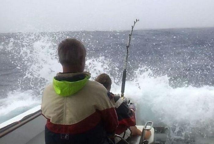 Woman Catches a Big Tuna Fish