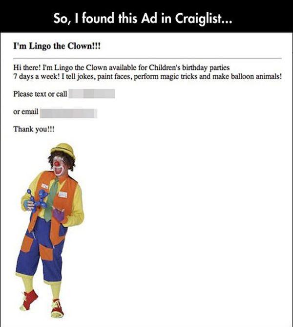 Trolling a Clown