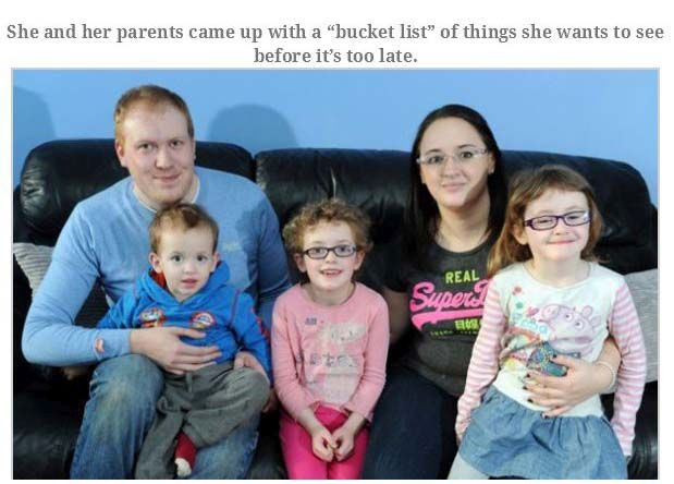 Blind Daughter Bucket List