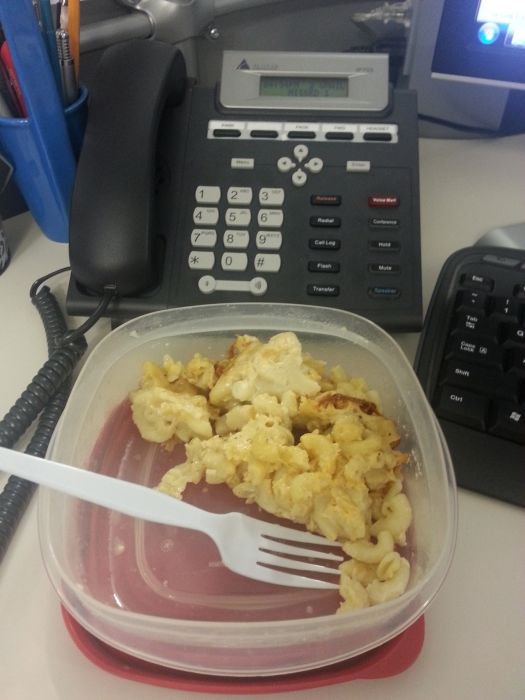 Sad Desk Lunch