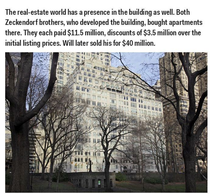 Famous People Who Live at 15 Central Park West