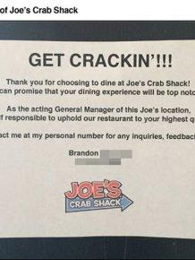 Trolling Joe's Crabshack Manager