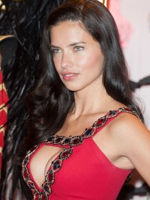 Adriana Lima in sexy red dress