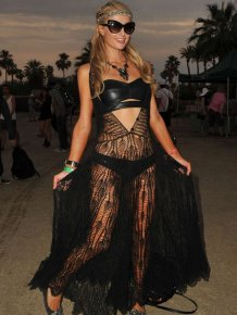 Paris Hilton at Coachella Valley Music and Arts Festival in Indio