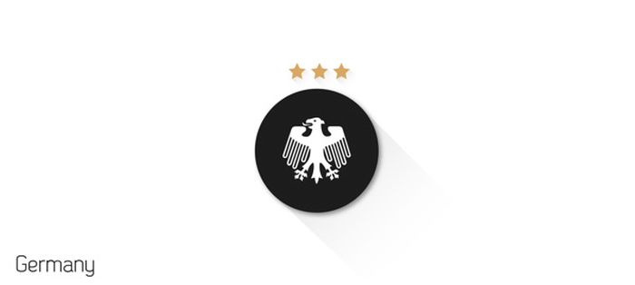 Minimalist Fifa World Cup Flat Design Shields