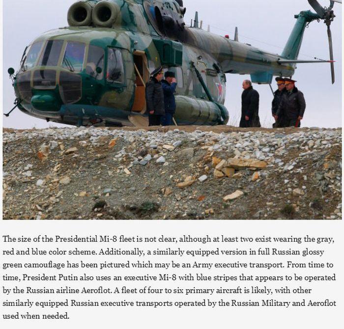 Vladimir Putin's Presidential Helicopter Fleet