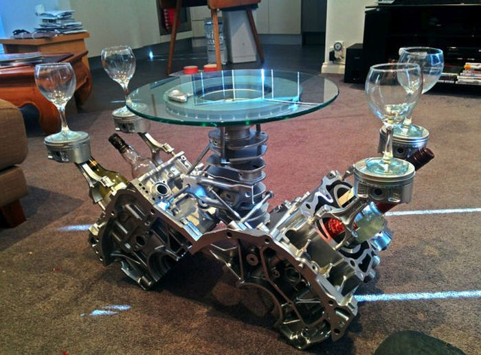 This Rusty Engine Was Falling Apart Now It's An Epic Table