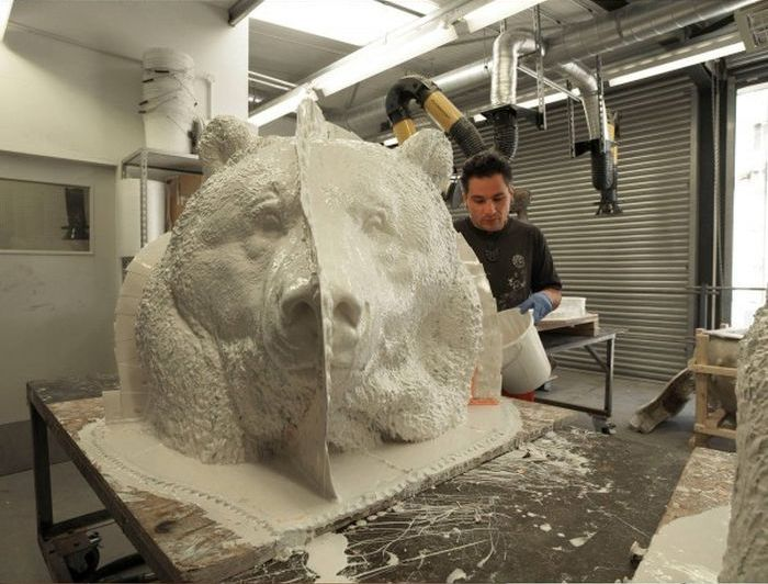 See How This Bronze Bear Is Brought To Life