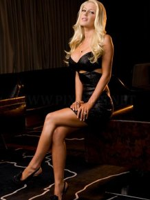 Heidi Montag in black dress