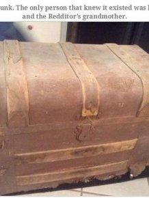 Old Man Leaves Behind Fascinating Treasure Trunk