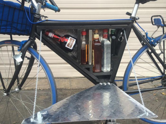 See What's Stashed In This Bike's Secret Compartment