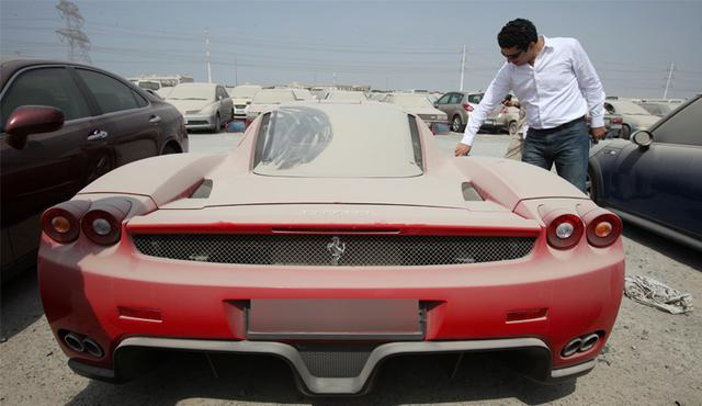 Abandoned luxury cars in Dubai