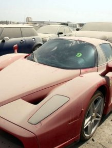 Abandoned luxury cars in Dubai