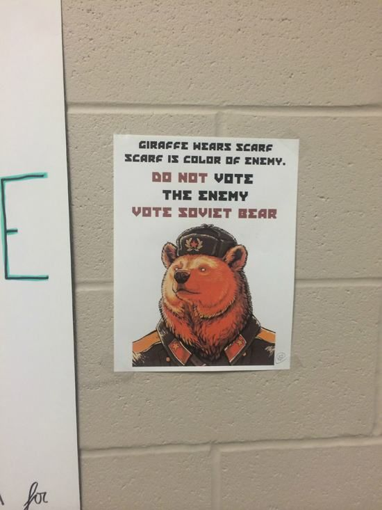 Vote Soviet Bear In For Student Council
