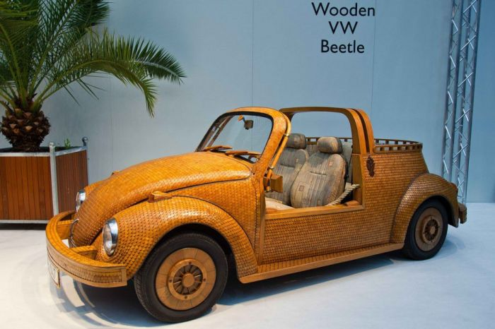 Volkswagen Beetle Made Out Of Wooden Tiles Vehicles