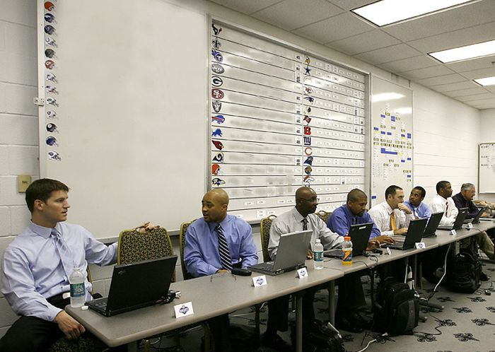 Get An Inside Look At The NFL Draft War Rooms