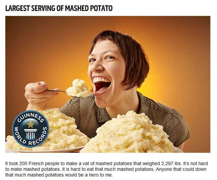 Unimpressive Guinness World Records For Food