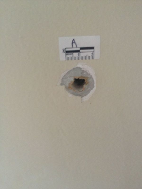 Bullet Goes Straight Through The Bedroom Wall
